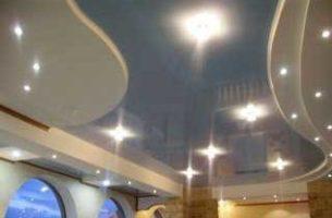Монтаж потолочных точечных светильников