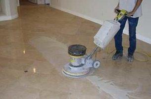 Как восстановить напольное покрытие из мрамора
