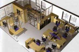 Расстановка мебели в офисе