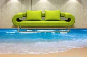 Наливной пол 3D в квартире