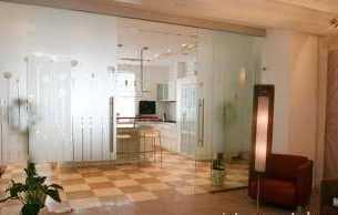 Как можно использовать стеклянные перегородки