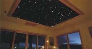 Комплектация натяжного потолка с эффектом звездного неба