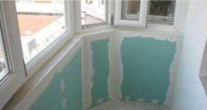 Утепляем потолок балкона гипсокартоном