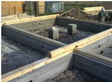 Качественный фундамент для деревянного дома