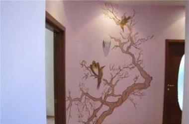Декоративная покраска стен квартиры или загородного дома