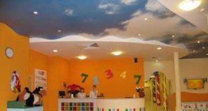 Натяжные потолки в детской комнате: сказка в доме