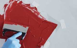 Правильное нанесение акриловой краски