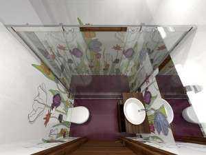 Дизайн и интерьер маленького санузла (фото)