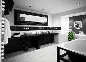 Обзор дизайна черной ванной комнаты