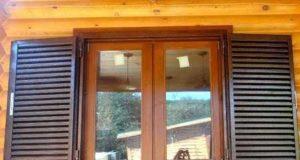 Использование ставень на окна в оформлении внешнего вида дома