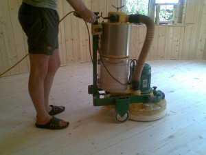Как шлифовать деревянные полы