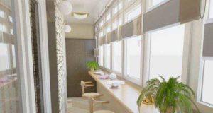 Внутренний интерьер балкона: подбор материалов