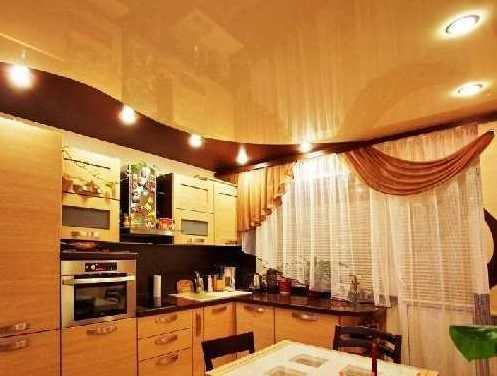 Натяжные потолки на кухне: преимущества, виды и уход