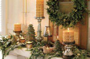 Новогодний декор дома: украшаем интерьер, в том числе окна и стол (фото, видео)