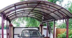 Установка кованых металлических навесов из поликарбоната