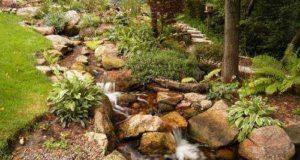 Искусственный ручей в ландшафтном дизайне