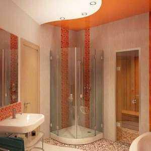 Обзор и особенности дизайна ванной комнаты с душевой кабиной