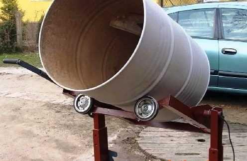 Как сделать ручную или электрическую бетономешалку