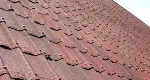 Монтаж крыши из керамопласта