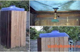 Как построить летний душ своими руками