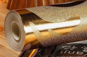 Металлические обои – характеристики и особенности