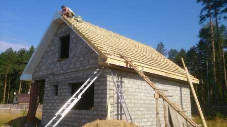 Виды крыш для дома из газобетона или пеноблоков