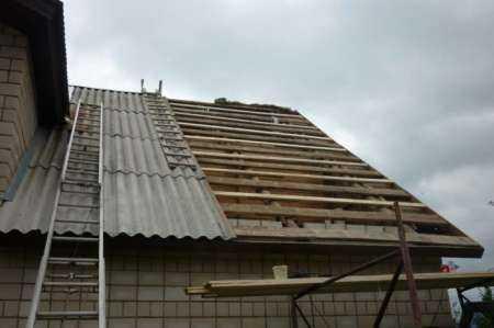 Технология монтажа шифера на крышу