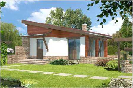 Виды двускатных крыш для частных одноэтажных домов