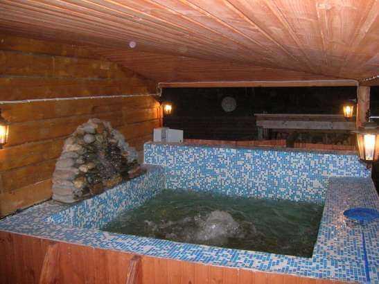Как построить баню с бассейном своими руками 34