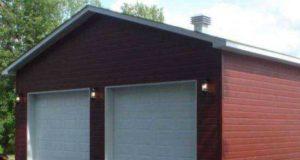 Как построить гараж из сэндвич-панелей