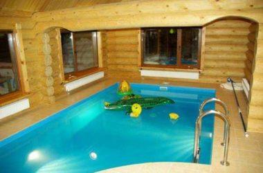 Проекты бани с бассейном с фото