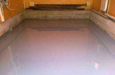 Чем покрыть пол в гараже из бетона