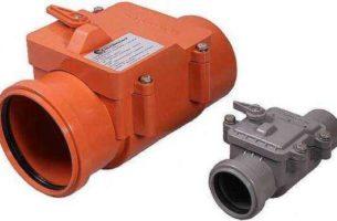 Как поставить канализационный обратный клапан