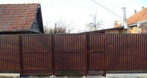 Забор из профлиста своими руками: пошаговые фото