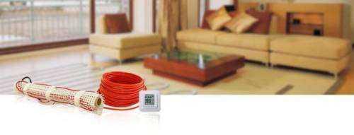 Укладка электрического теплого пола под ламинат и плитку.