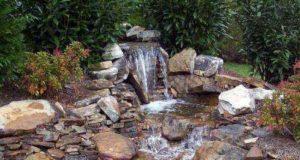 Как сделать водопад для дачи и дома с фото