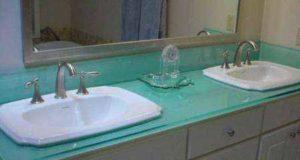 Столешница в ванную под раковину: самостоятельное изготовление с фото