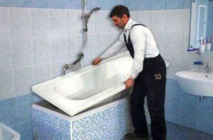 Как установить акриловый вкладыш в ванную