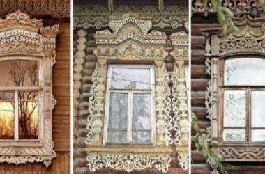 Как сделать резные наличники на окна в деревянном доме с фото