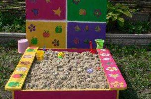 Как сделать детскую песочницу на даче своими руками