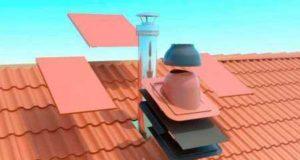 Установка вентиляционной трубы на ондулин