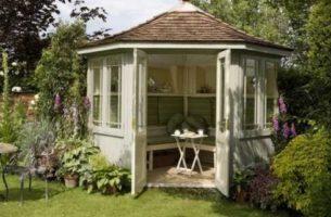 12 идей оформления садовой беседки