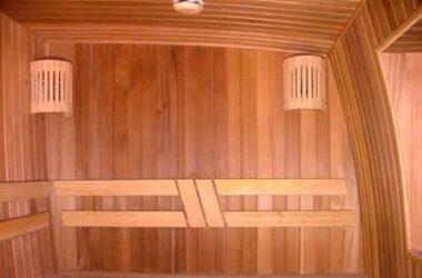 Отделка главного банного помещения парной