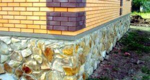 Фундамент дома из природного камня: бутовый цоколь