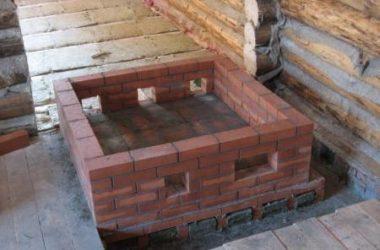 Каким должен быть фундамент под печь в бане