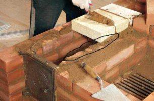 Порядовка кирпича в конструкции печи для бани