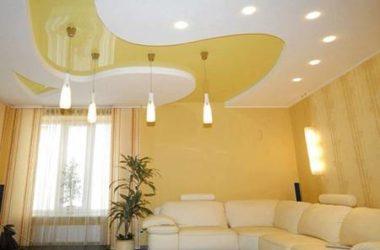 Точечные светильники: как расположить на натяжном потолке, варианты, схемы
