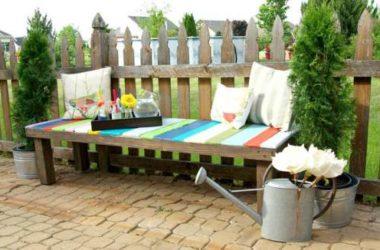 Садовые скамейки для дачи своими руками